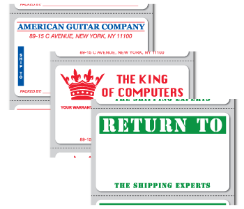 Custom printed mailing stickers personalized with your for Custom mailing stickers