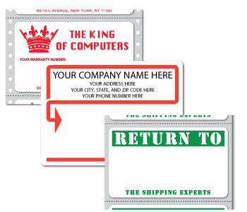 Custom Printed Mailing Labels