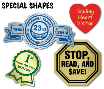 Special Shapes Custom Foil Labels