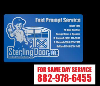 Custom Outdoor Garage Door Service and Sale Labels