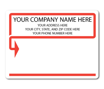 Custom Printe Mailing Stickers