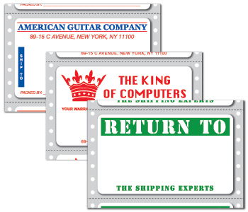 Custom Printed Pinfeed Mailing Fanfolded Stickers