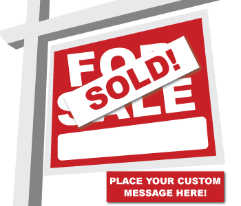 Real Estate Sign Stickers