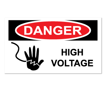 High Voltage Danger Warning Labels