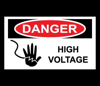 High Voltage Danger Warning Labels