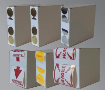 Cardboard Box Sticker Dispensers