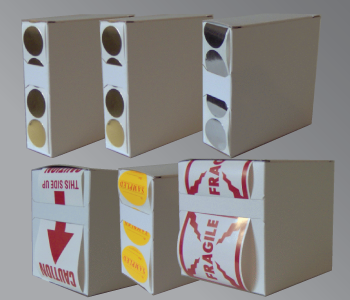 Cardboard Box Sticker Dispensers