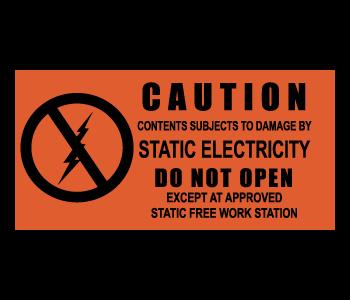 Electrostatic Attention Grabbing Warning Labels
