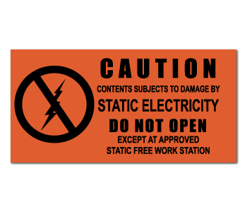Electrostatic Attention Grabbing Warning Labels
