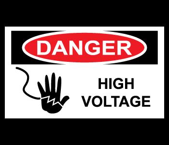 Danger High Voltage Warning Stickers
