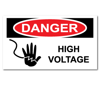 Danger High Voltage Warning Stickers
