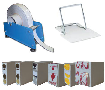 Seal and Mailing Tab Dispensers and Stands
