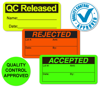 Quality Control Stickers