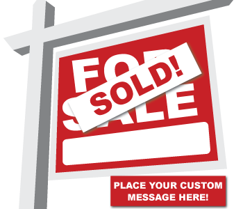 Custom Real Estate Labels for Outdoor use