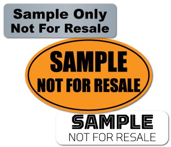 Sample Not for Resale Labels