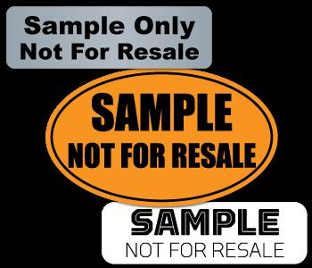 Sample Not for Resale Labels